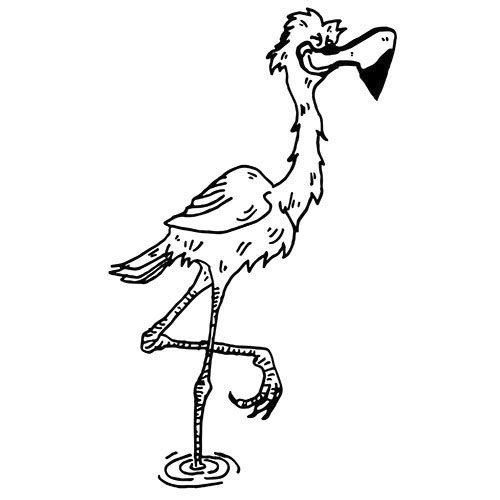 flamingo als kostenloses ausmalbild in din a4