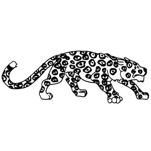 jaguar als kostenloses ausmalbild in din a4